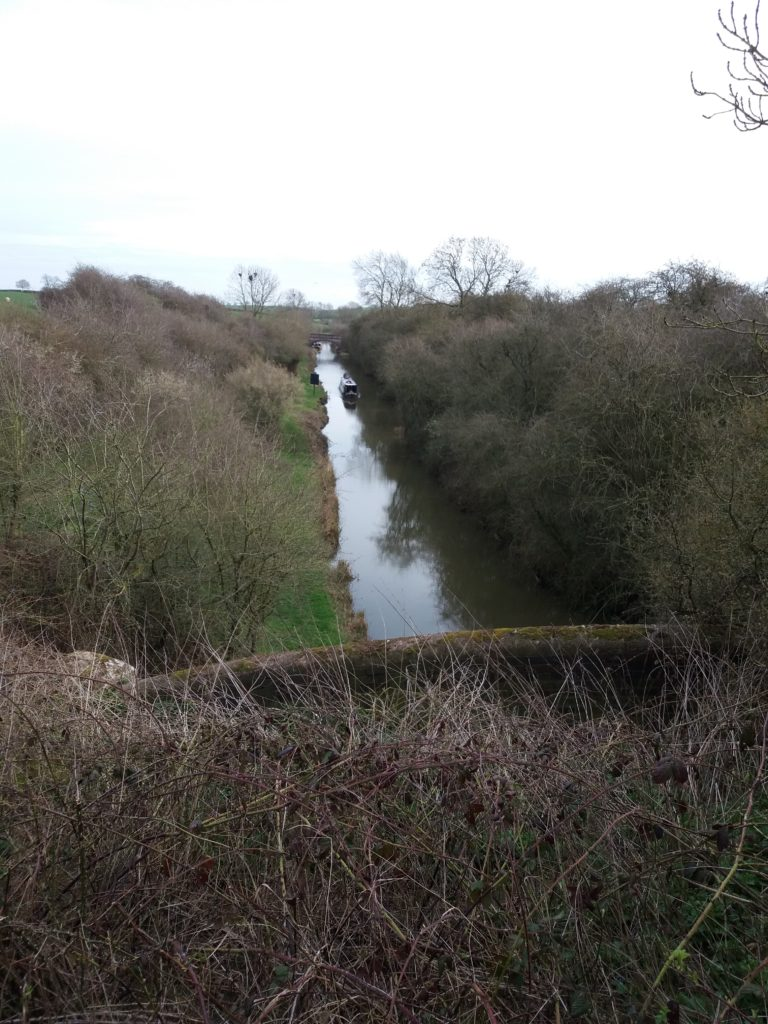 Looking down onto the canal from saddlington tunnel