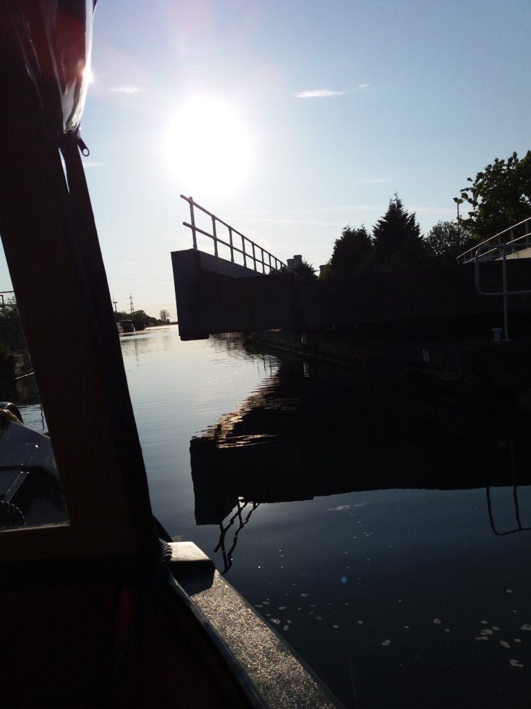 swing bridge at Keadby lock